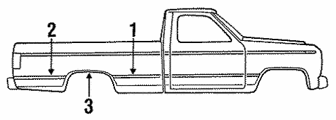 Body/Exterior Trim - Pick UP Box for 1997 Ford F-350 #1