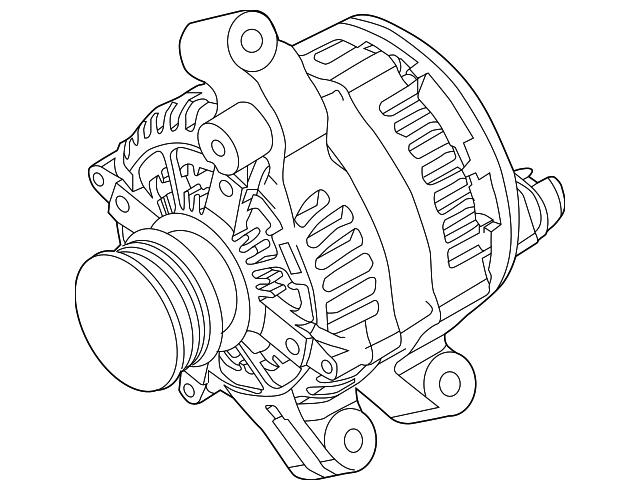 2012 2013 Ford Explorer Alternator Bb5z 10346 A