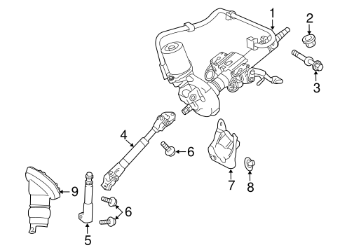 STEERING/STEERING COLUMN ASSEMBLY for 2014 Toyota Prius V #1
