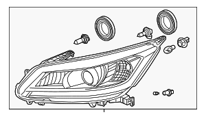 Headlight Assembly, R - Honda (33100-T3W-A01)
