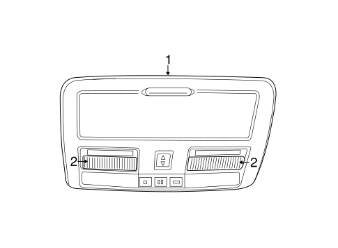 Overhead Console For 2011 Dodge Charger