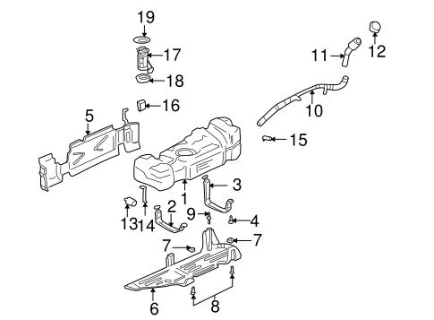 Fuel System Components for 2004 Oldsmobile Bravada #0