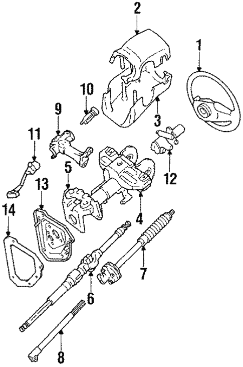 Genuine Oem Steering Column Components Parts For 1991 Toyota 4runner