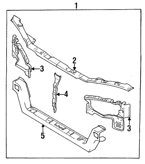 Radiator Support For 1995 Mitsubishi Eclipse Auto Parts