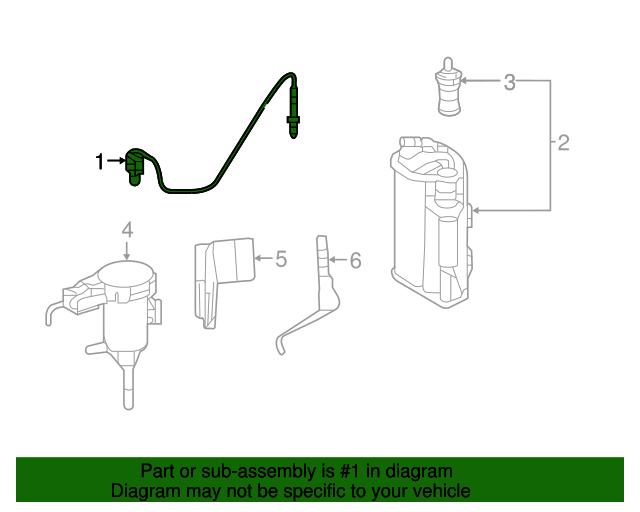 Genuine Mercedes-Benz Oxygen Sensor 000-542-14-00