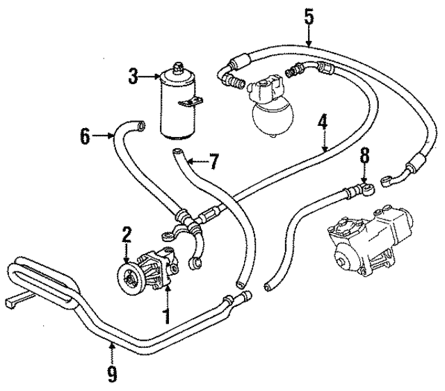 1988 1995 bmw power steering pump 32 41 1 132 726 xportauto 2000 BMW 750iL power steering pump bmw 32 41 1 132 726