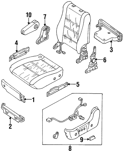 Front Seat Components for 1995 Isuzu Trooper #1