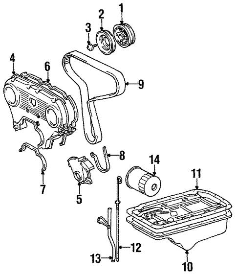 Genuine Oem Engine Parts Parts For 1993 Toyota T100 Sr5