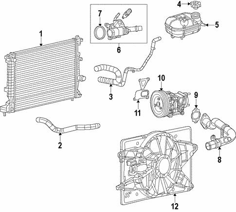 Radiator & Components for 2015 Dodge Dart   Mopar PartsMopar Parts - Mopar Online Parts