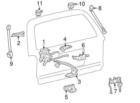 Toyota 68770-35030 Door Hinge Assembly