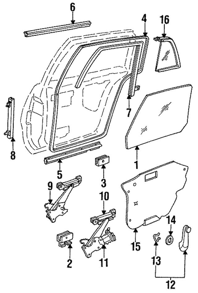 1988 2019 Gm Window Handle Clip 4168122