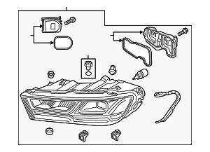 Headlamp Assembly - Audi (4M0-941-773-E)