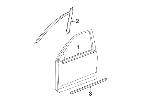 BODY/EXTERIOR TRIM - FRONT DOOR for 2006 Toyota Corolla #1