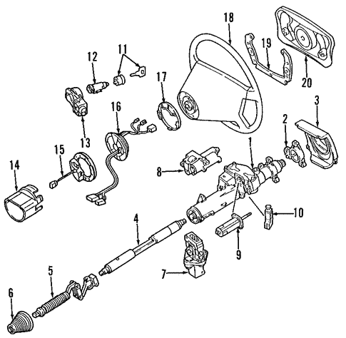 Steering Column for 1998 Mercedes-Benz E 320 #0