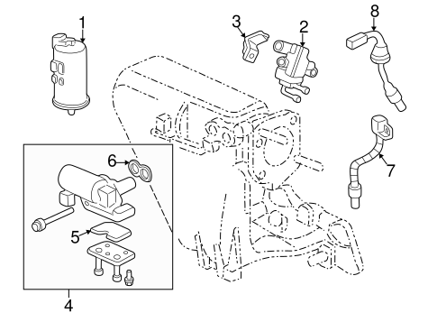 Gasket, Electronic Air Control Valve (Denso)