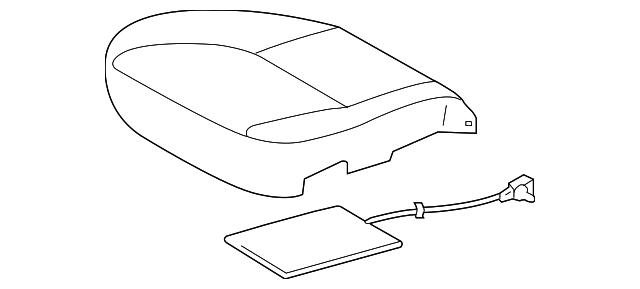 TOYOTA Genuine 71072-0C220-B6 Seat Cushion Cover