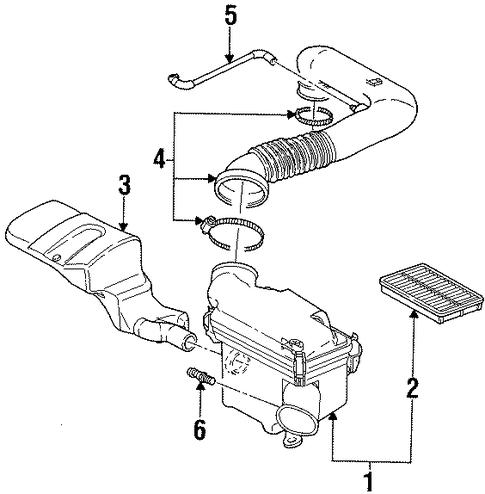 air intake parts for 2001 saturn sc2. Black Bedroom Furniture Sets. Home Design Ideas