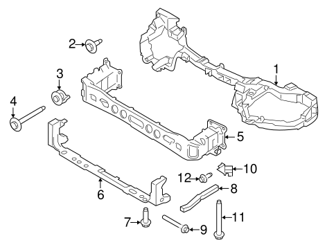 Radiator Support For 2017 Ford Transit Connect