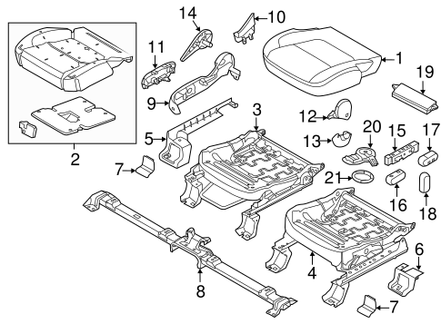 Body/Front Seat Components for 2015 Ford Explorer #2