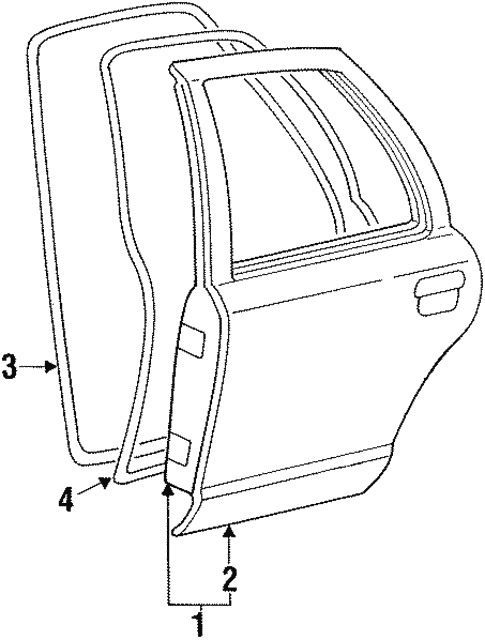 Door Components For 1998 Ford Crown Victoria
