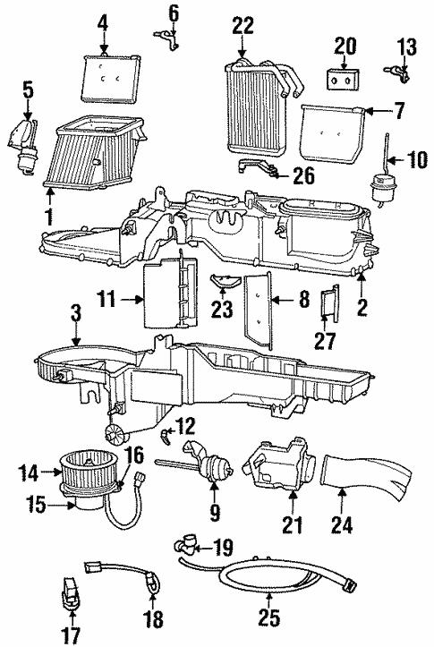 CHRYSLER OEM Evaporator Heater-Door 4778420