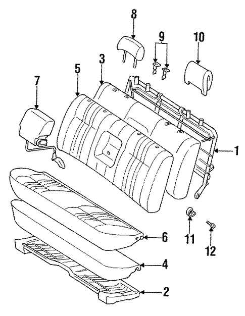Front Seat Components For 1998 Toyota T100