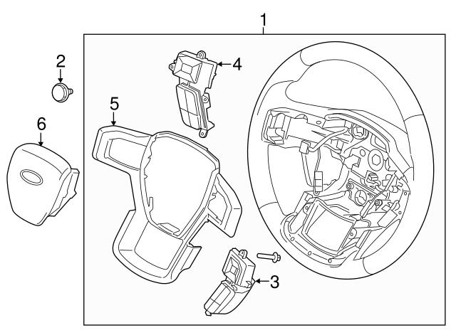 2018 Ford F 150 Steering Wheel Hl3z 3600 Jb