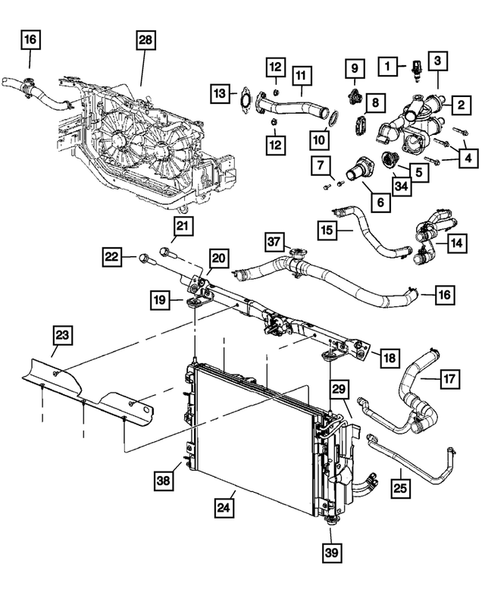 2007 Dodge Caliber Engine Mount Diagram