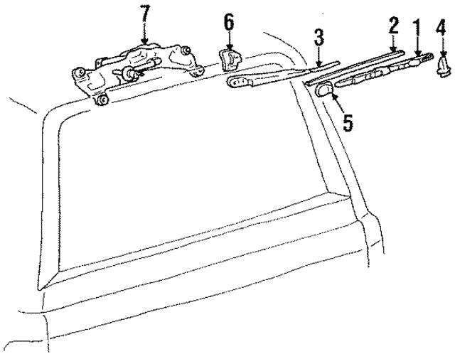 1988 2007 Toyota Wiper Arm Cover 85192 13060
