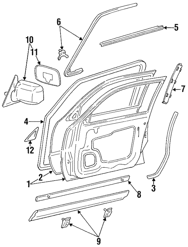 Genuine Toyota 87910-06060-B0 Rear View Mirror Assembly