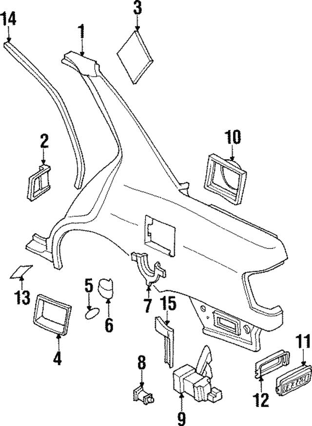 1991 1997 Infiniti Fuel Door Bumper 01658 01121
