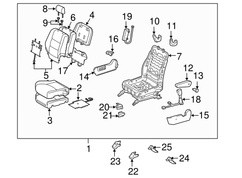 BODY/FRONT SEAT COMPONENTS for 2006 Toyota Highlander #3