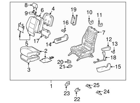 TOYOTA Genuine 71018-48090 Seat Back Frame