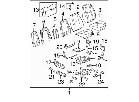 Oem 2009 Gmc Yukon Xl 1500 Front Seat Components Parts
