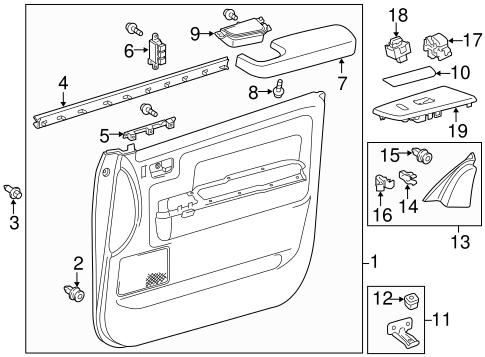 TOYOTA 74210-0C030-B0 Armrest Assembly