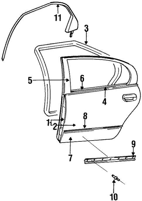Chrysler Concorde hood molding trim cladding