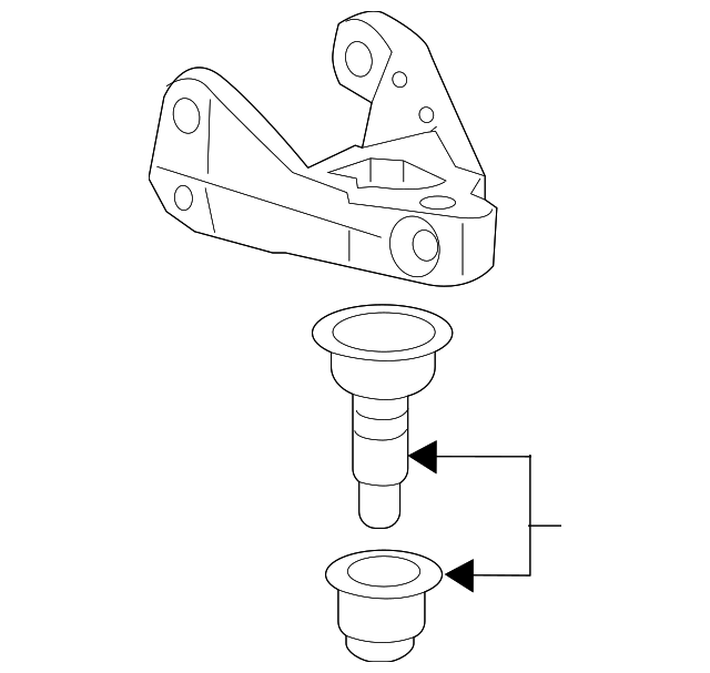 Bracket, L Front Ball Joint Housing (Lower)