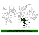 Bracket, L Front Ball Joint Housing (Lower) - Honda (51285-TGH-A00)