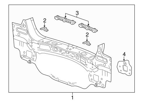 oem 2016 chevrolet trax rear body parts. Black Bedroom Furniture Sets. Home Design Ideas