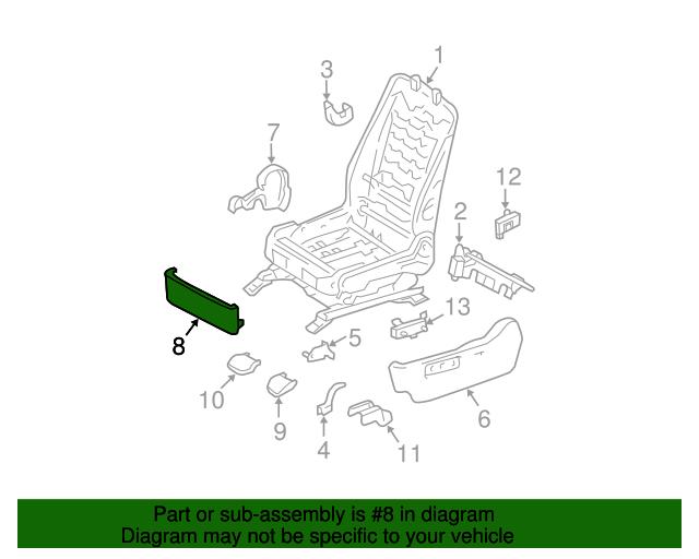 TOYOTA Genuine 71868-35010-B1 Seat Cushion Shield