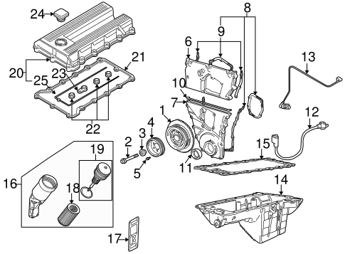 Engine Parts For 1996 Bmw Z3