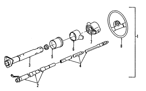 OEM Steering Column Components for 1993 Chevrolet S10 Blazer