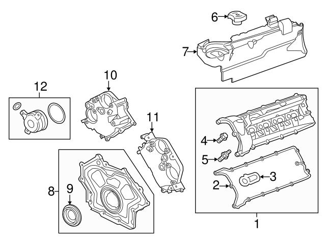 2010 2019 jaguar front crank seal aj811449 ft myers jaguar jaguar xk8 quarter panel diagram jaguar xk8 engine main seal diagram #39