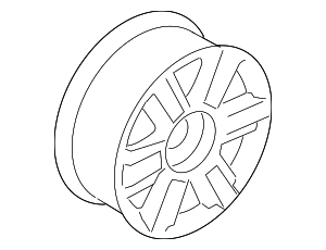 Wheel, Alloy - Ford (6L3Z-1007-M)