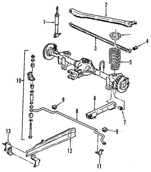 Oem 1995 Chevrolet Camaro Rear Suspension Parts