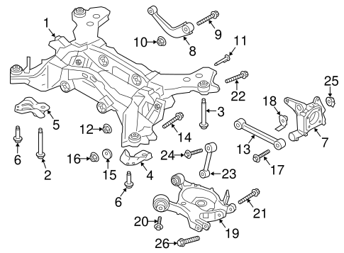 Rear Suspension/Rear Suspension for 2017 Ford Fusion #2