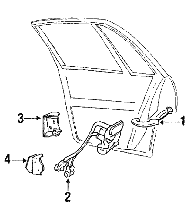Upper Hinge - GM (25540146)