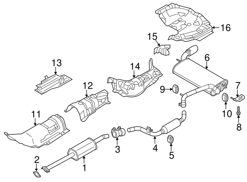 Exhaust System/Exhaust Components for 2012 Ford Focus #2