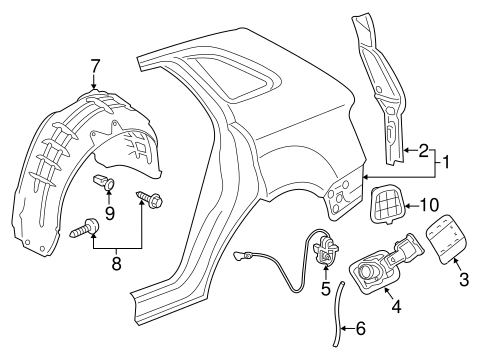 Quarter Panel Components For 2018 Audi Q3