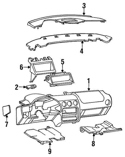 oem 1997 pontiac firebird instrument panel parts gmpartsonline net Black Pontiac Trans AM body instrument panel for 1997 pontiac firebird 2